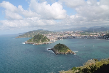San Sebastian, view from hotel
