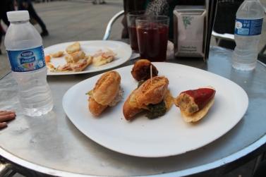 Yummy pintxos & sangria