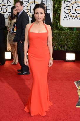 "Julia Louis-Dreyfus (5'2"") in Narciso Rodriguez"