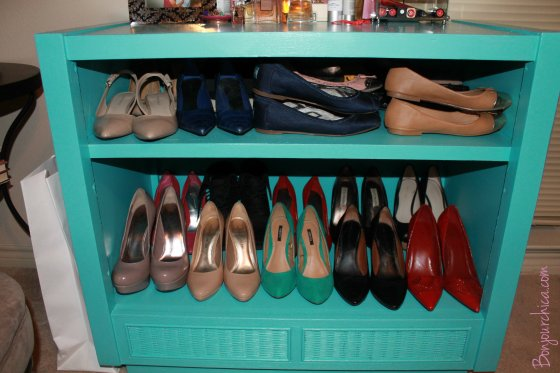 Shoe organizer hack