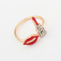 Red lips ring $3