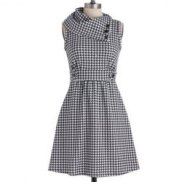 Vintage Houndstooth Dress $60