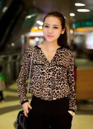Animal Print Blouse, $28