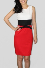 Red Pencil Knee-length dress, $58