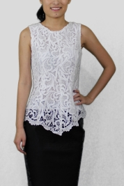 White Lace Top, $58