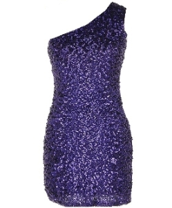 Be-dazzled in this sparkly one shoulder