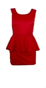 Blazing Red Dress with daring V back